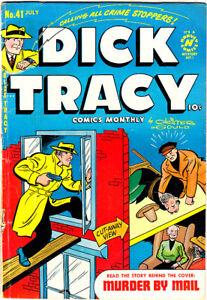 "DICK TRACY #41 GD/VG Chester Gould Nylon Hoze ""Murder By Mail"" 1951 Harvey"