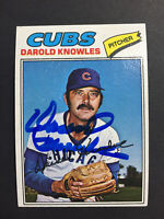 Darold Knowles Cubs Signed 1977 Topps Baseball Card #169 Auto Autograph
