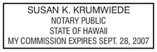 State of Hawaii l Rectangle Self-Inking Notary Public Stamp - Hawaii