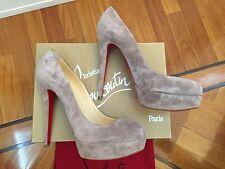 NIB Christian Louboutin Bianca 140 Platform Antique Suede Shoe Pump Heels 35,5