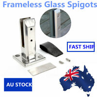 Stainless Spigots Frameless Glass Pool Balustrade Fence Clamp Post Stairs AU NEW