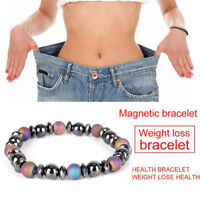 Magnetic Bracelet Bead Hematite Stone Health Care Weight Loss Jewelry ox