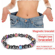 Magnetic Bracelet Bead Hematite Stone Therapy Health Care Weight Loss Jewelry XB