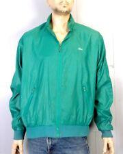vtg 80s The Lacoste Club Green Full Zip Nylon Windbreaker Jacket Cafe Racer XL