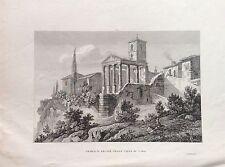 TEMPIO D'ERCOLE NELLA CITTÀ DI CORA CORI LATINA LAZIO  1845  ZUCCAGNI  ORLANDINI