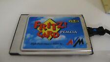 AVM FRITZ!CARD v2.0 PCMCIA ISDN CARD MODEM FAX plus FRitz PCI CArd OVP