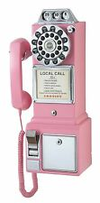 Pay Phone Classic Vintage Wall Telephone Coin Mount Retro Payphone Booth Antique