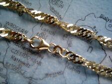 gedrehtes Damenarmband 333 Länge 18 cm x 3 mm, Singapurarmband kurz Gold 333
