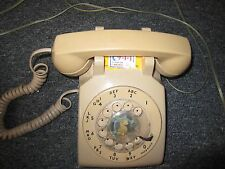 Bell System Rotary Telephone Beige/Almond Color with jax