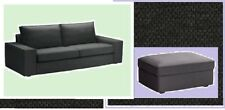 IKEA Kivik Dansbo Dk Gray 3 Seat Standard Sofa AND Footstool COVERs Ottoman NEW