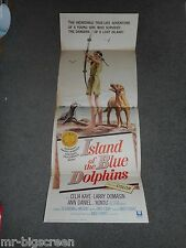 ISLAND OF THE BLUE DOLPHINS - ORIGINAL FOLDED INSERT POSTER - 1964