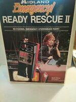 Vintage Midland Emergency Ready Rescue II 40 Channel CB Radio Model 77-911B-Mint