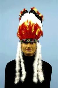 Mens Adult NATIVE AMERICAN Indian Costume Headdress