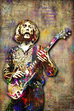 Duane Allman Of The Allman Brothers Poster Duane Allman 12x18in Poster Free Ship