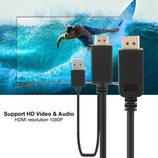 NEW HDMI Male to DP Display Port Male+USB Power Cable Converter Adapter 1080P RH