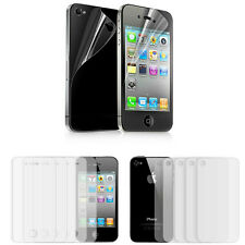 10 pcs = 5x Front + Back Clear Screen Protectors Cover Film for iPhone 4 4S 4G