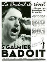 Publicité ancienne eau Badoit St Galmier 1937 issue de magazine