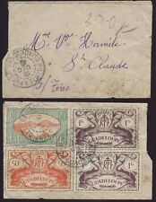 FRANCE COLS.GUADELOUPE 1948 MINIATURE COVER sent localy