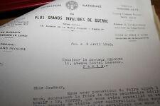 dossier fédération invalides de guerre WW II 39/45 alsace