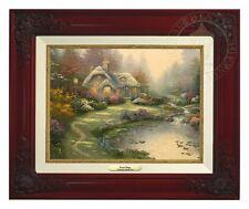 Thomas Kinkade Everett's Cottage – Canvas Classic (Brandy Frame)