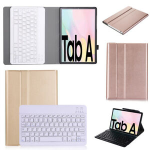 Wireless Bluetooth Keyboard Leather Case For SamsungGalaxyTabA7T500T505 NEW