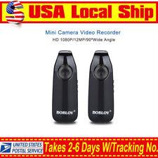 2pcs HD 1080P Mini Camcorder Dash Cam 90° Motorcycle Bike Motion Camera 16:9