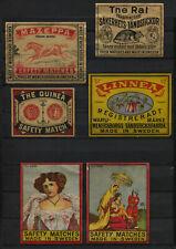 Nice Lot Made In Sweden Vintage Rare Big Matchbox Labels