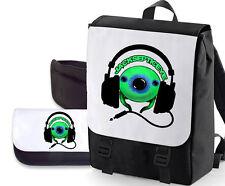 JACKSEPTICEYE DOUBLE PACK BAG / PENCIL CASE (GREEN EYE HEADSET ) BAGBASE