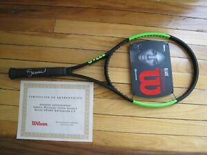 Autographed SERENA WILLIAMS Wilson Blade SW104 Tennis Racket 4 3/8 grip NEW!!!