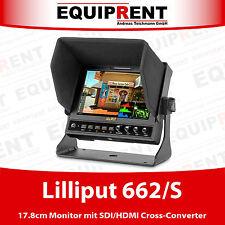 Lilliput 662/s monitor professionali con HD SDI, HDMI e alloggiamento in metallo eqd83
