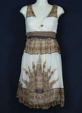 Women's Sundress One Size Beige Brown Print Sexy Summer Casual Boho Hippie Dress