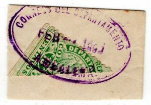 COLOMBIA - TOLIMA - 10c BISECTED ON PIECE - AMBALEMA CANCEL - 1898 - Sc 439 RRR