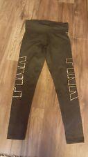 Victorias Secret PINK Yoga Legging Pants Black/Gold Foldover S