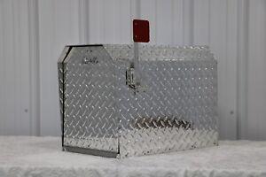 Heavy Duty Aluminum Diamond Plate 16 Gauge Mailbox Jumbo Size