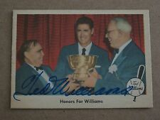 1959 FLEER TED WILLIAMS AUTOGRAPH #78 2005 INSERT 1/1 HOF RED SOX SIGNED COA