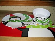 Target 4 pc melamine Holiday kid's placesetting, bowl, dishes, placemat. Perfect
