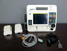 Lifepak 12 3D Biphasic 3 lead ECG Pacing Analyze ECG Cable 2 Battery Therapy