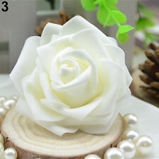 50pcs Foam Rose Heads Artificial Flowers Wedding Bride Bouquet Party Decor DIY