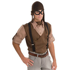 Adult Steampunk Aviator Pilot Kit Fancy Dress Costume Set - Hat & Goggles Only
