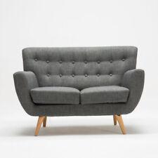 mezzanine CLASSIQUE MODERNE CANAPÉ 2 places en gris tissu en bois pieds confort