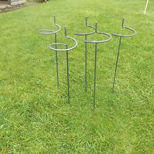 "10 x Handmade Victorian Bow Style Metal Plant Supports in 5//16/"" Solid Steel Bar"