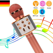 Bluetooth Karaoke Mikrofon Tragbares Handmikrofon für Kinder und Erwachsene USB