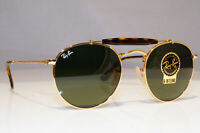 RAY-BAN Mens Womens Boxed Designer Sunglasses Gold Round NEW RB 3747 001 25939