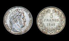 5 Francs 1848 A (Paris) Louis Philippe. Argent. Cote en SUP: 220€