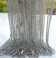"""NEW 10PCS White K plated spherical metal necklace Finding 19 """" K"""