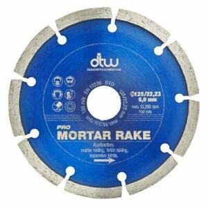 "DTW 125mm (5"") Mortar raking Diamond blade disc."