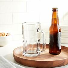 More details for anchor hocking tankard pint glass beer mug with handles 20 oz bar glass
