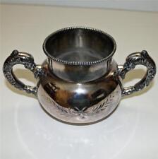 Antique Silverplate 2 Handled Sugar Bowl