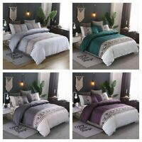 Floral Duvet Cover for Comforter King Queen Size Bedding Set Pillowcases US