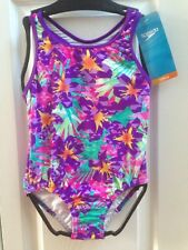 SPEEDO Swimsuit Girls Children Size 5 to 16 Purple Pink Blue Flowers Colors